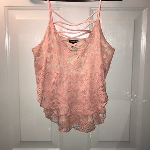 Express pink lace top